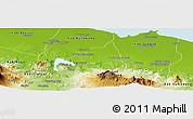 Physical Panoramic Map of Kab. Purwakarta
