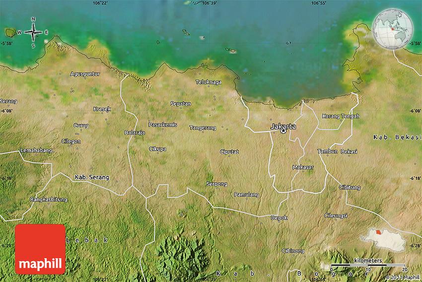 Satellite Map of Kab Tangerang