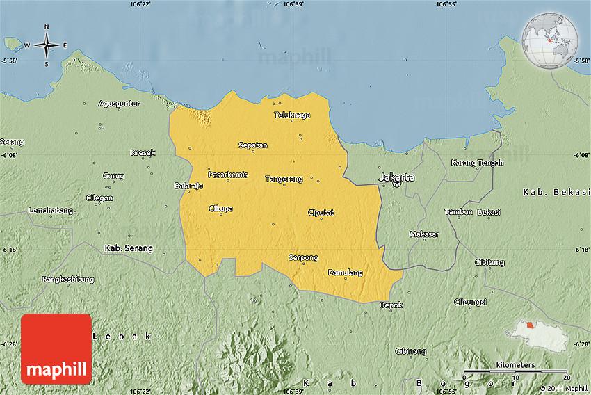 Savanna Style Map of Kab Tangerang