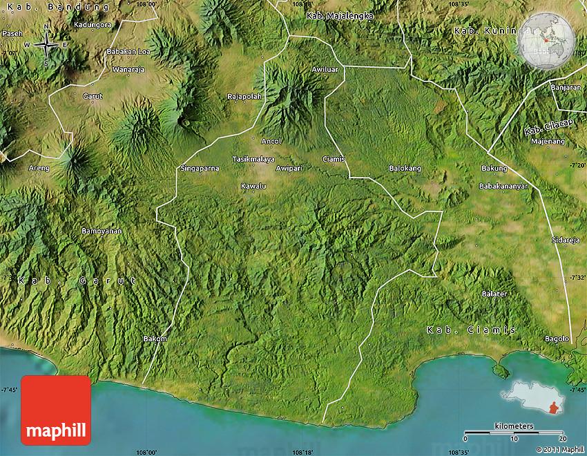 Satellite Map of Kab Tasikmalaya