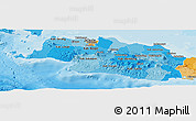 Political Shades Panoramic Map of West Java