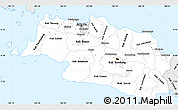 Silver Style Simple Map of West Java