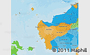 Political Shades 3D Map of West Kalimantan