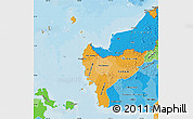 Political Shades Map of West Kalimantan