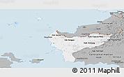 Gray Panoramic Map of West Kalimantan