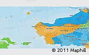 Political Shades Panoramic Map of West Kalimantan
