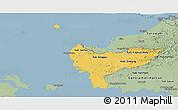 Savanna Style Panoramic Map of West Kalimantan