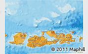 Political Shades 3D Map of West Nusa Tenggara
