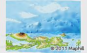 Physical Panoramic Map of Kab. Bima
