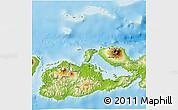 Physical 3D Map of Kab. Sumbawa