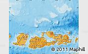 Political Shades Map of West Nusa Tenggara