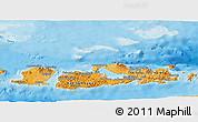 Political Shades Panoramic Map of West Nusa Tenggara