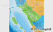Political Shades Map of West Sumatera