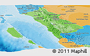 Political Shades Panoramic Map of West Sumatera