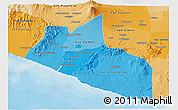 Political Shades 3D Map of Yogyakarta