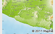 Physical Map of Kab. Gunung Kidul