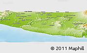 Physical Panoramic Map of Kab. Gunung Kidul