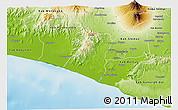 Physical 3D Map of Kab. Kulon Progo