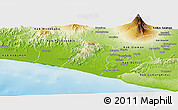 Physical Panoramic Map of Kab. Kulon Progo