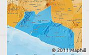 Political Shades Map of Yogyakarta