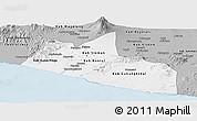 Gray Panoramic Map of Yogyakarta