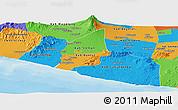 Political Panoramic Map of Yogyakarta
