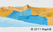 Political Shades Panoramic Map of Yogyakarta