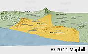 Savanna Style Panoramic Map of Yogyakarta