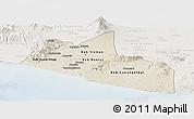 Shaded Relief Panoramic Map of Yogyakarta, lighten