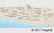 Shaded Relief Panoramic Map of Yogyakarta