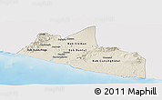 Shaded Relief Panoramic Map of Yogyakarta, single color outside
