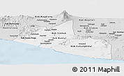 Silver Style Panoramic Map of Yogyakarta