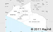 Silver Style Simple Map of Yogyakarta