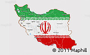 Flag 3D Map of Iran