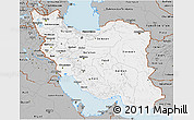 Gray 3D Map of Iran