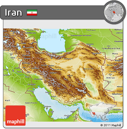 Physical 3D Map of Iran