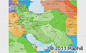 Political Shades 3D Map of Iran