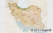 Satellite 3D Map of Iran, lighten