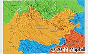 Political 3D Map of Bakhtaran