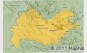 Savanna Style 3D Map of Bakhtaran