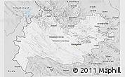 Silver Style 3D Map of Bakhtaran