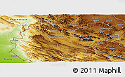 Physical Panoramic Map of Bakhtaran