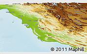 Physical Panoramic Map of Bushehr