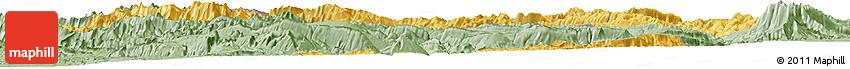 Savanna Style Horizon Map of Chaharmahal and Bakhtiar