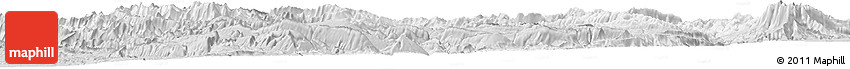Silver Style Horizon Map of Chaharmahal and Bakhtiar