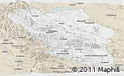 Classic Style Panoramic Map of Chaharmahal and Bakhtiar