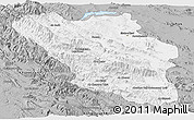 Gray Panoramic Map of Chaharmahal and Bakhtiar