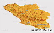 Political Panoramic Map of Chaharmahal and Bakhtiar, cropped outside