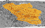 Political Panoramic Map of Chaharmahal and Bakhtiar, desaturated