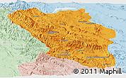 Political Panoramic Map of Chaharmahal and Bakhtiar, lighten